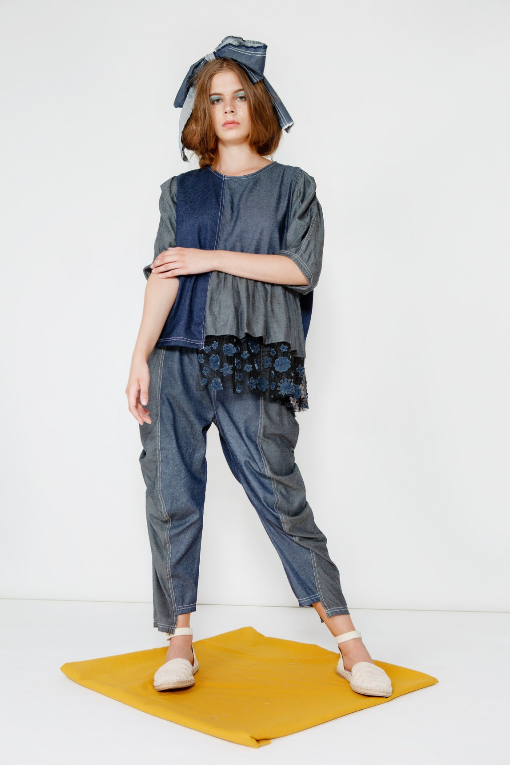 LAILA TOP DARK BLUE/ GREY
