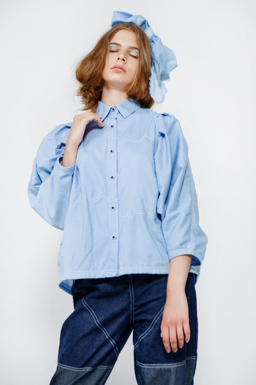 ANDREA SHIRT LIGHT BLUE