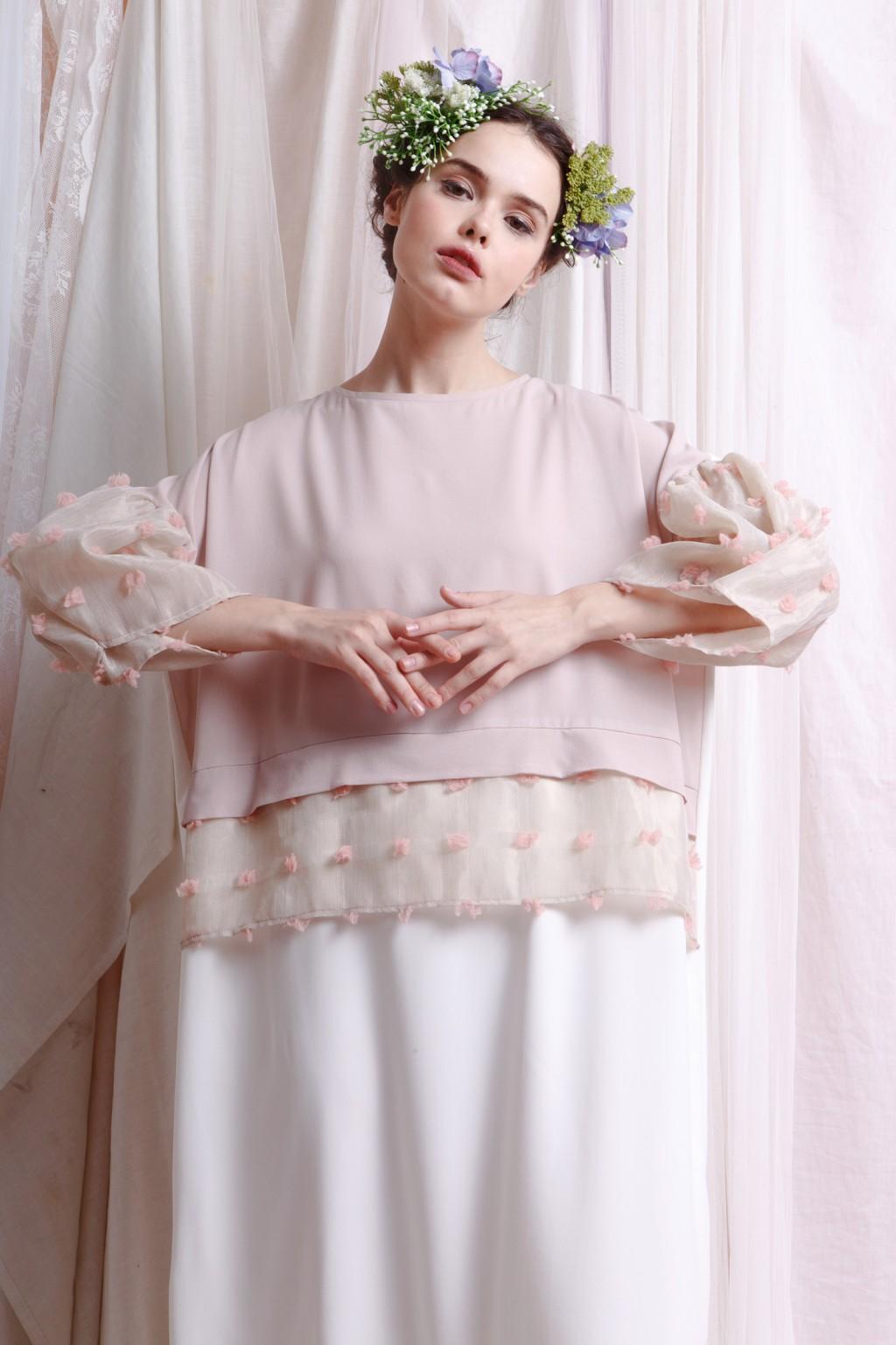 AMANI DRESS WHITE / PINK