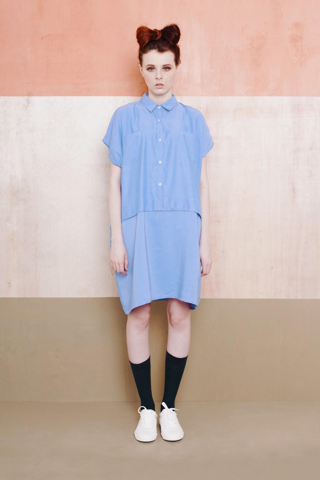 CHLOE DRESS BLUE