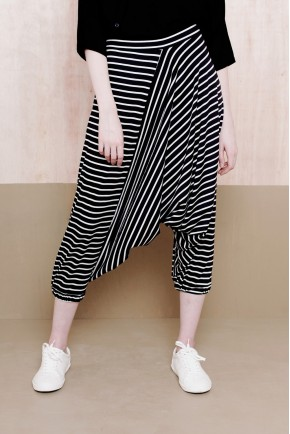 GOGO PANTS BLACK STRIPES